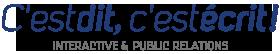 Logo C'Est Dit C'Est Ecrit