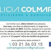 Logo Alicia Colmart, opticienne à domicile