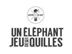 Logo Un Elephant Dans un Jeu de Quilles