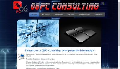 Site internet de 06 Pc-Consulting