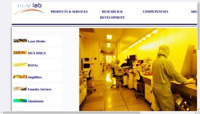 Site internet de Iii-V Lab