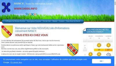 Site internet de Proxiti