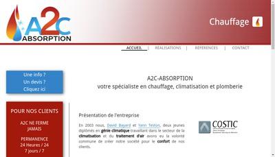 Site internet de A2C Absortion Chauffage Climatisation