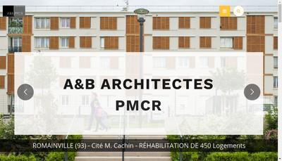 Site internet de A et B Architectes