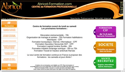 Site internet de Abricot-Formation