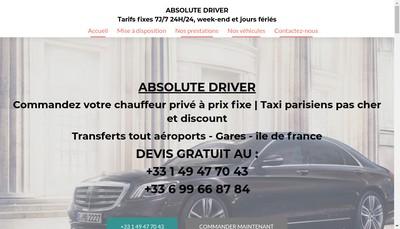 Site internet de Absolute Driver
