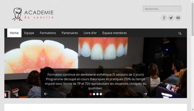 Site internet de L'Academie du Sourire
