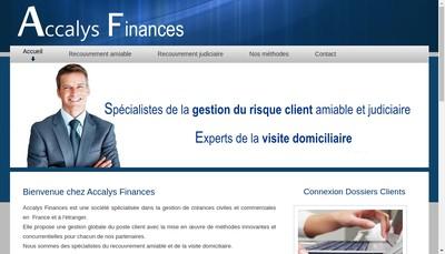 Site internet de Accalys Finances
