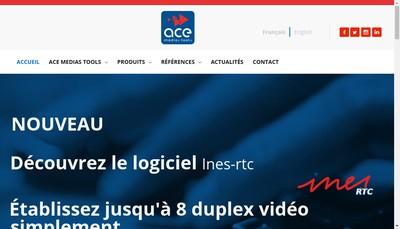 Site internet de Ace Medias Tools