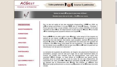 Site internet de Acgest