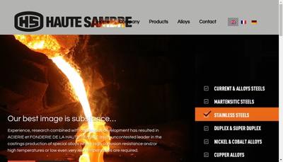 Site internet de Acierie et Fonderie de la Haute Sambre