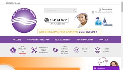 Site internet de Acqua France Plomberie