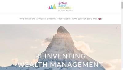 Site internet de Active Asset Allocation