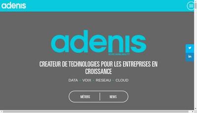 Site internet de Adenis France