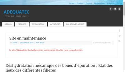 Site internet de Adequatec