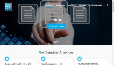 Site internet de Aderim