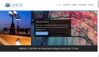 Site internet de Adevie Sante