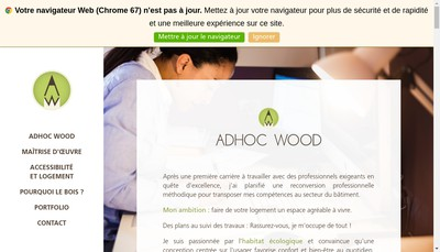 Site internet de Adhoc Wood