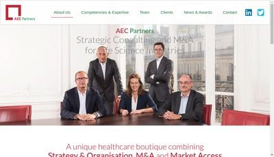Site internet de Aec Partners