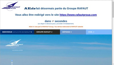 Site internet de Aeds Technologie SAS