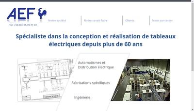 Site internet de Ateliers Electriques de France