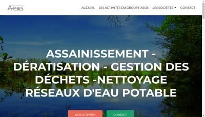Site internet de Sanor Aeos