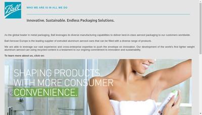 Site internet de Ball Aerosol Packaging France SAS