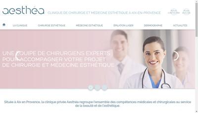 Site internet de Aesthea