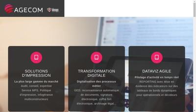 Site internet de Agecom