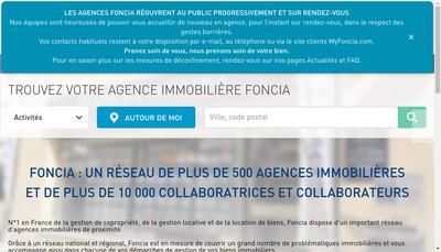 Site internet de Foncia Midi Pyrenees