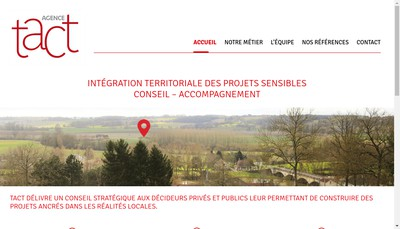 Site internet de Agence Tact