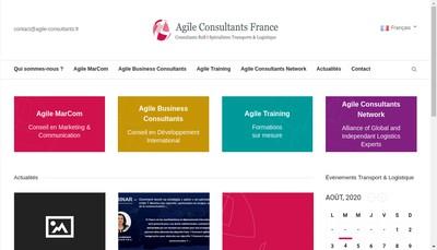Site internet de Agile International Consultants - Agile