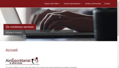 Site internet de Ain Secretariat & Services