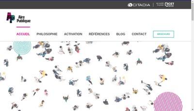 Site internet de Aire Publique