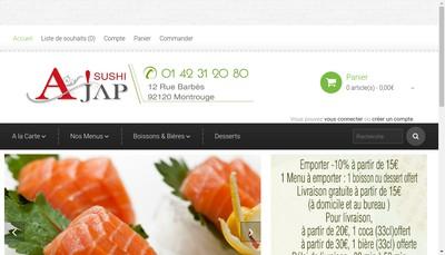 Site internet de Ajap Sushi