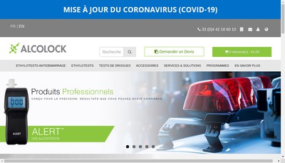 Site internet de Alcolock France