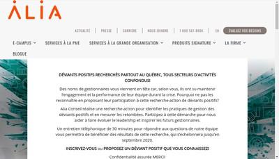 Site internet de Alia Conseils