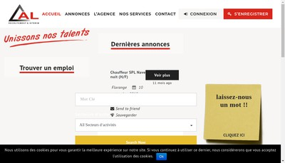 Site internet de Al Interim