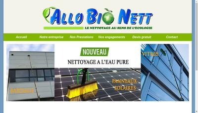 Site internet de Allo Bio Nett