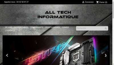 Site internet de All Tech Informatique