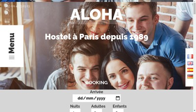 Site internet de Aloha Hotel