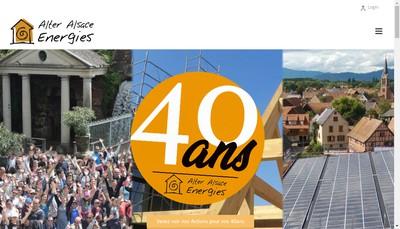 Site internet de Alter Alsace Energies