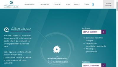 Site internet de Alterview Conseil