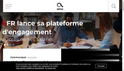 Site internet de Altice France