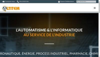 Site internet de Altitem
