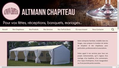 Site internet de Altmann Chapiteaux