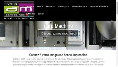 Site internet de AM Composition