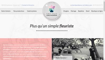 Site internet de Ambiance Orchidees