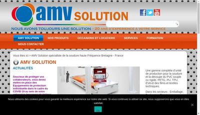 Site internet de Amv Solution