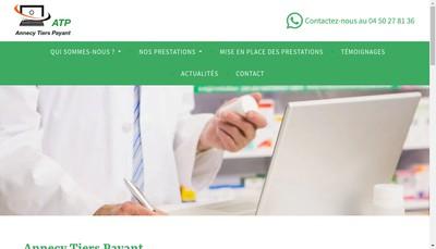 Site internet de Annecy Tiers Payant